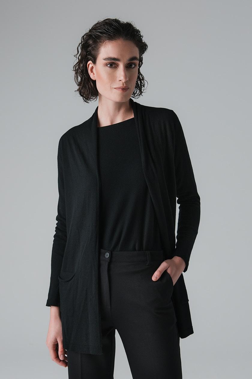 chaqueta-mujer-punto-basica-negro-lopezientos