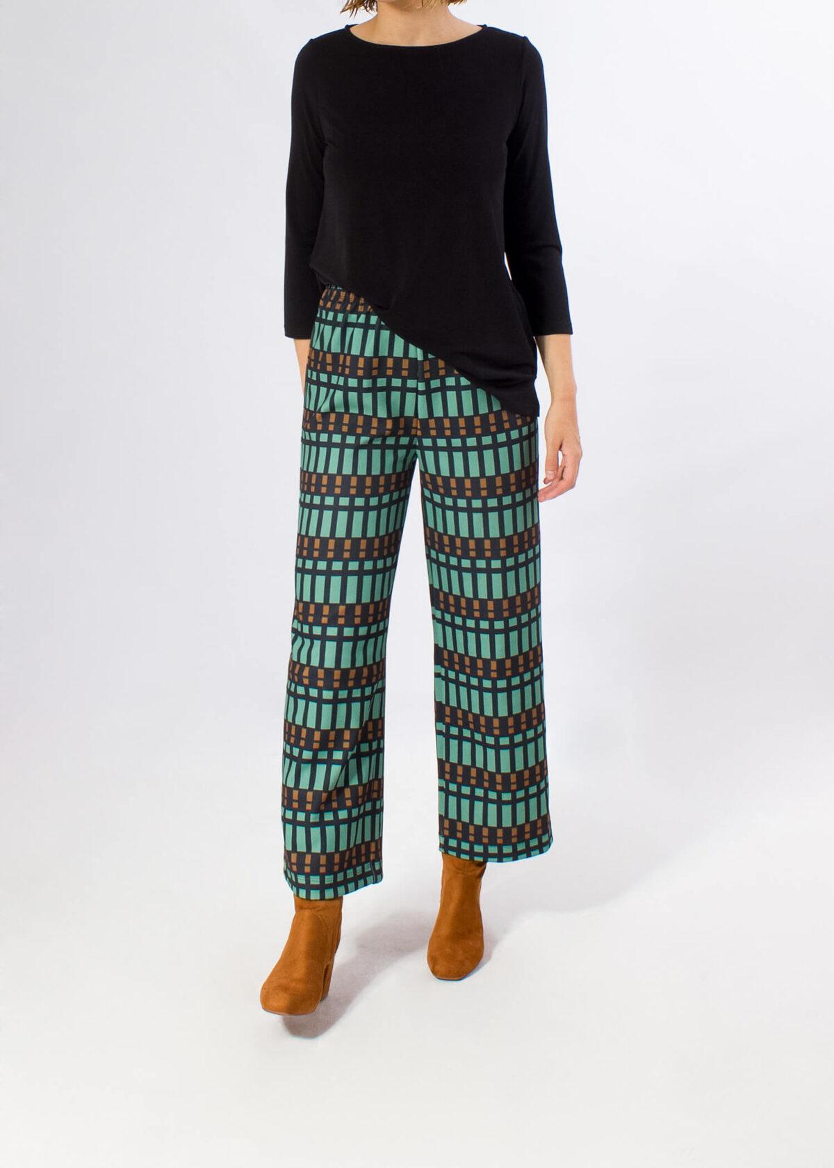 pantalon-ancho-cuadros-verde-parole-italy-lopezientos