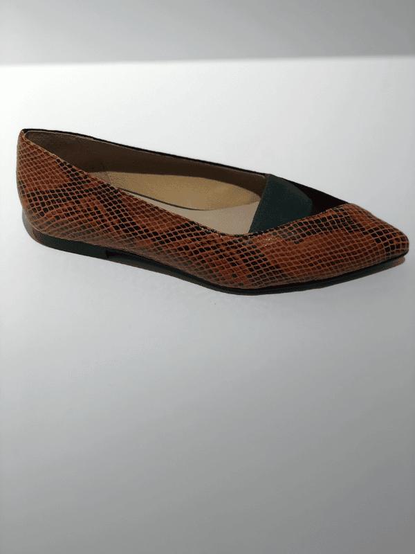zapatos-mujer-planos-piel-serpiente-naranja-lopezientos