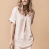 camisa-mujer-fluida-pliegue-delantero-rosa-parole-italy-lopezientos