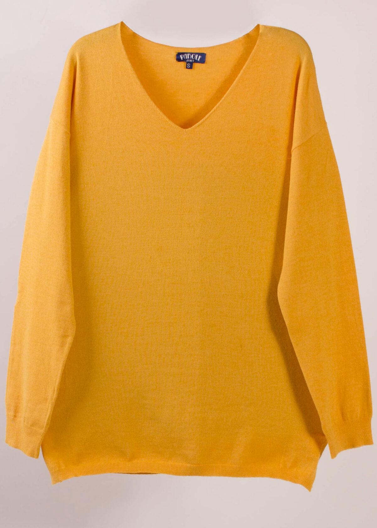 jersey-punto-mujer-amarillo-parole-italy-lopezientos