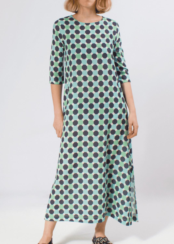 vestido-largo-punto-seda-estampado-geometrico-turquesa-parole-italy
