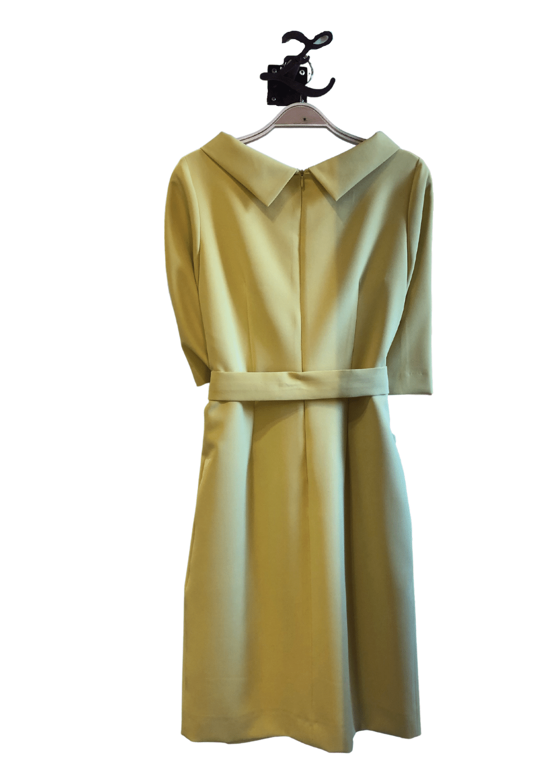 vestido-fiesta-angel-iglesias-clasico-cinturon-amarillo-lopezientos