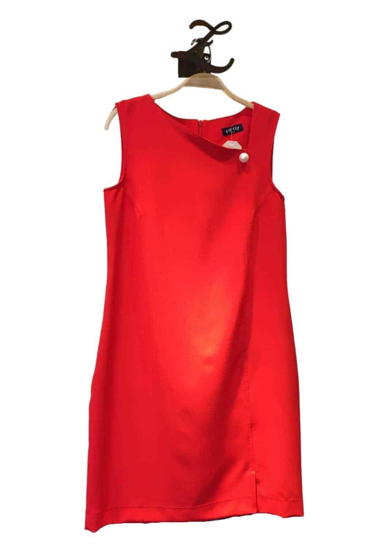 vestido-parole-italy-corto-recto-rojo-liso-lopezientos