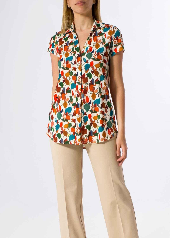 camisa-mujer-parole-italy-manga-corta-hojas-bloom-lopezientos