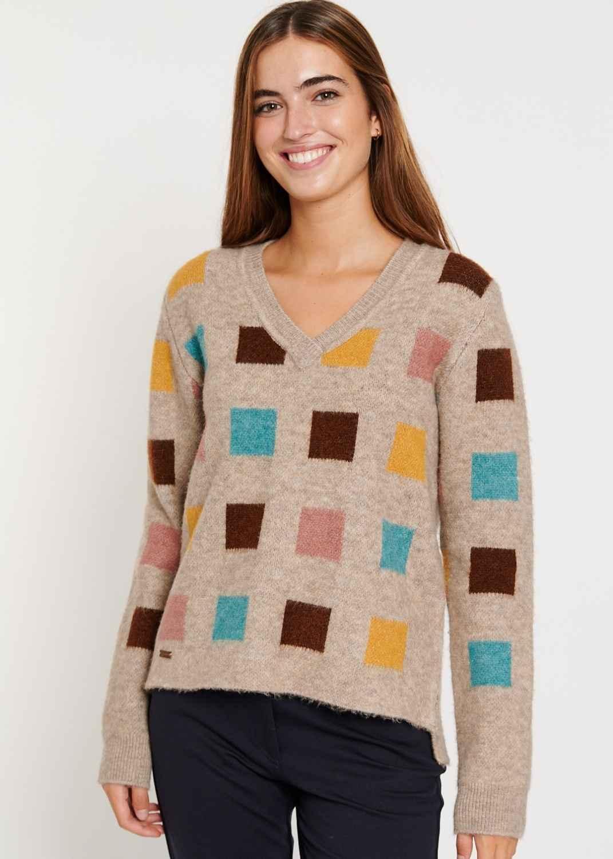 jersey-mujer-punto-reciclado-sostenible-beige-batopeto-lopezientos