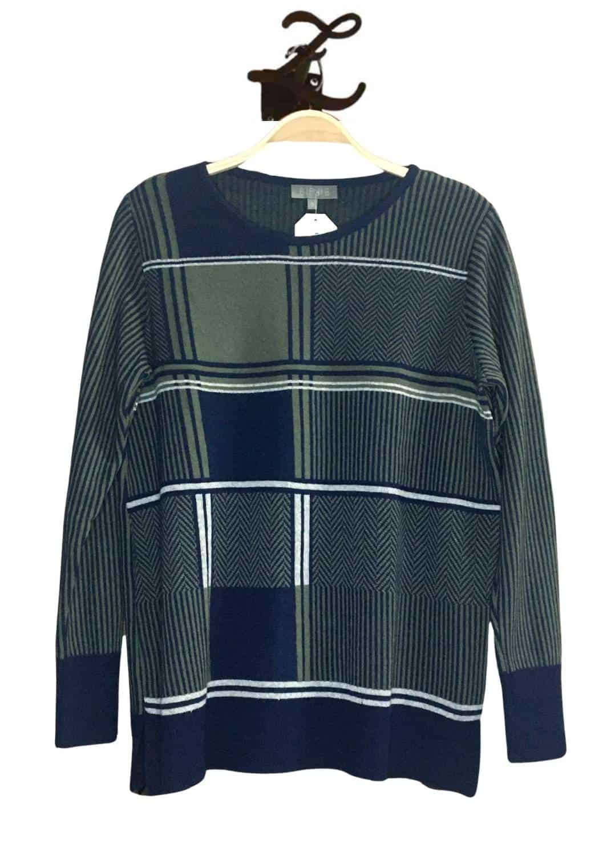 jersey-punto-mujer-espiga-azul-cuadros-algodon-bipbip-lopezientos