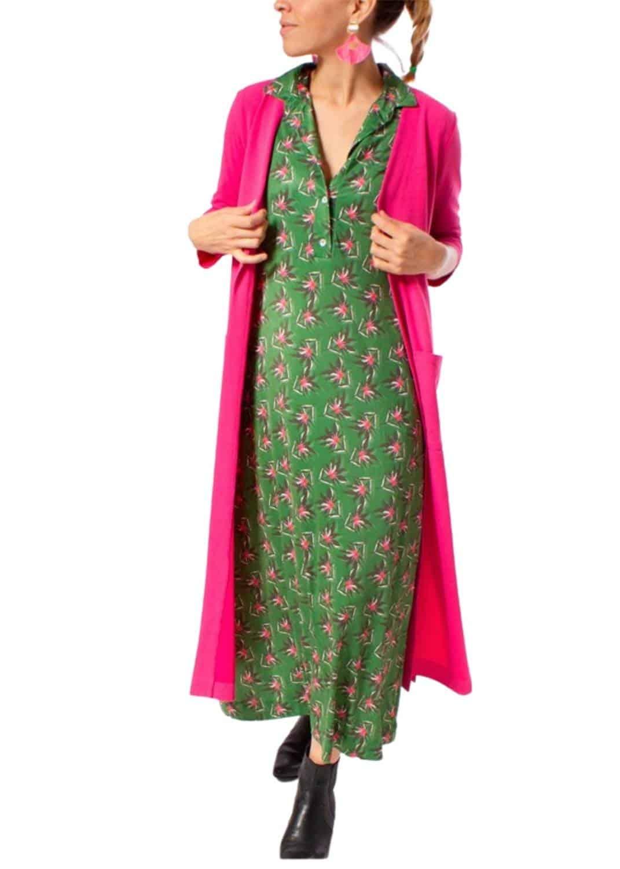 vestido-midi-cuello-camisero-verde-flor-fuscia-parole-italy-lopezientos