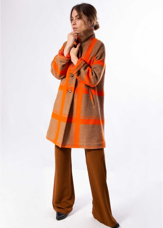 abrigo-mujer-largo-lana-bolsillos-naranja-parole-italy-lopezientos