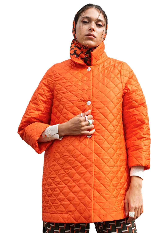 chaqueton-mujer-acolchado-cuello-camisero-naranja-en-a-parole-italy-lopezientos