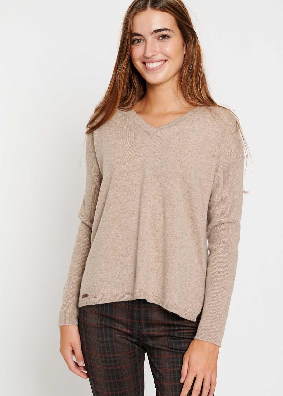 jersey-mujer-lana-merino-beige-marron-batopeto-lopezientos
