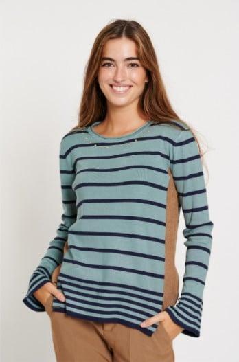 jersey-mujer-punto-canale-rayas-azul-batopeto-lopezientos
