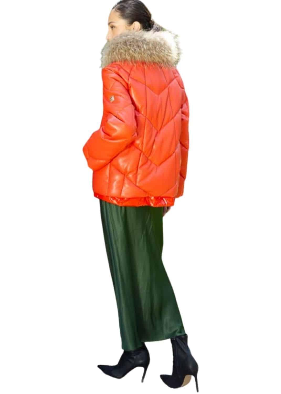 plumas-chaqueta-mujer-corto-naranja-acolchado-donjaz-lopezientos